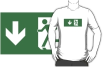 Running Man Exit Sign Adult T-Shirt 87