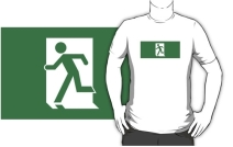 Running Man Exit Sign Adult T-Shirt 88
