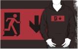 Running Man Exit Sign Adult T-Shirt 89
