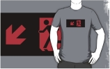 Running Man Exit Sign Adult T-Shirt 9