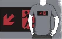 Running Man Exit Sign Adult T-Shirt 9