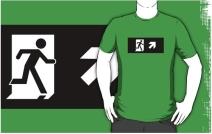 Running Man Exit Sign Adult T-Shirt 92