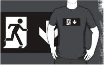 Running Man Exit Sign Adult T-Shirt 94