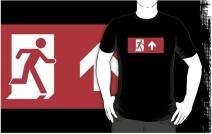 Running Man Exit Sign Adult T-Shirt 95