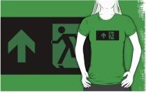 Running Man Exit Sign Adult T-Shirt 96