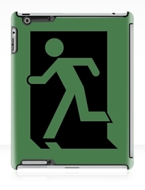 Running Man Exit Sign Apple iPad Tablet Case 1