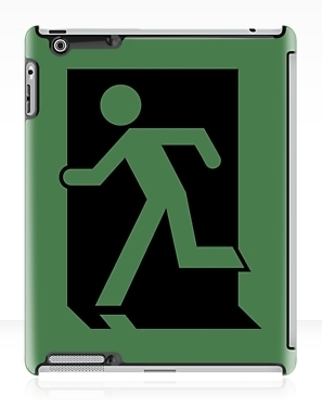 Running Man Exit Sign Apple iPad Tablet Case 1