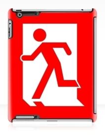 Running Man Exit Sign Apple iPad Tablet Case 10