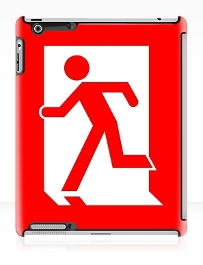 Running Man Exit Sign Apple iPad Tablet Case 10