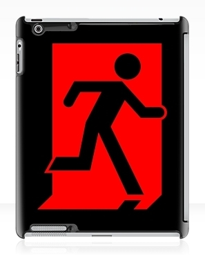 Running Man Exit Sign Apple iPad Tablet Case 101