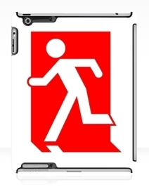 Running Man Exit Sign Apple iPad Tablet Case 102