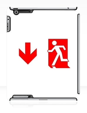 Running Man Exit Sign Apple iPad Tablet Case 103