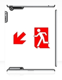 Running Man Exit Sign Apple iPad Tablet Case 104
