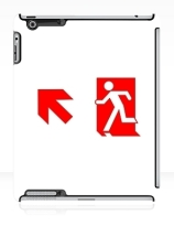 Running Man Exit Sign Apple iPad Tablet Case 105