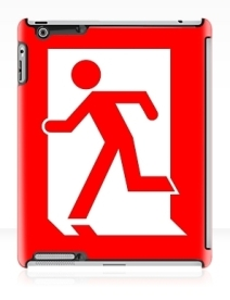 Running Man Exit Sign Apple iPad Tablet Case 106
