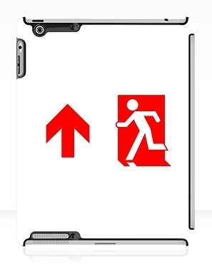 Running Man Exit Sign Apple iPad Tablet Case 108