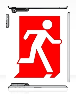 Running Man Exit Sign Apple iPad Tablet Case 109