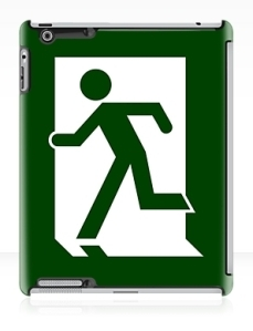 Running Man Exit Sign Apple iPad Tablet Case 11