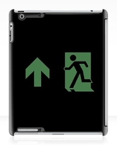 Running Man Exit Sign Apple iPad Tablet Case 110