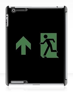 Running Man Exit Sign Apple iPad Tablet Case 110