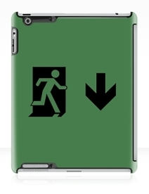 Running Man Exit Sign Apple iPad Tablet Case 111Running Man Exit Sign Apple iPad Tablet Case 111