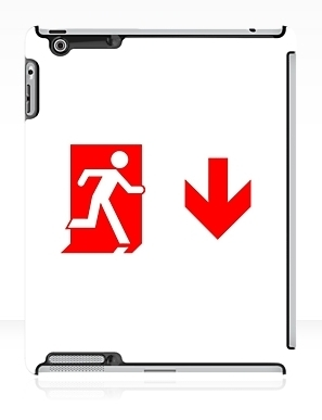 Running Man Exit Sign Apple iPad Tablet Case 112