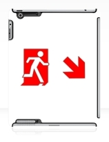 Running Man Exit Sign Apple iPad Tablet Case 113