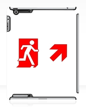 Running Man Exit Sign Apple iPad Tablet Case 114