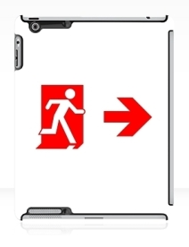 Running Man Exit Sign Apple iPad Tablet Case 115