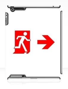 Running Man Exit Sign Apple iPad Tablet Case 115