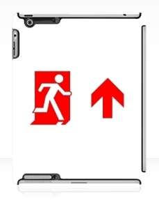 Running Man Exit Sign Apple iPad Tablet Case 116