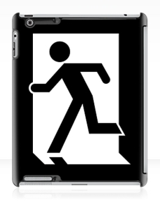 Running Man Exit Sign Apple iPad Tablet Case 117