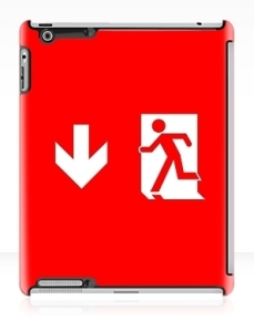 Running Man Exit Sign Apple iPad Tablet Case 118