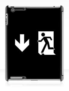 Running Man Exit Sign Apple iPad Tablet Case 119
