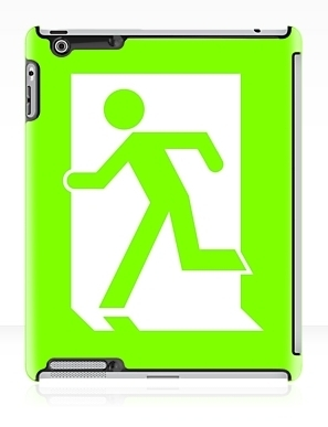Running Man Exit Sign Apple iPad Tablet Case 12
