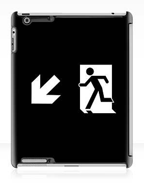 Running Man Exit Sign Apple iPad Tablet Case 120
