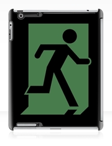 Running Man Exit Sign Apple iPad Tablet Case 121