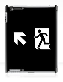 Running Man Exit Sign Apple iPad Tablet Case 122