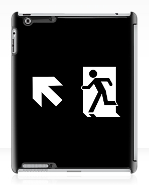 Running Man Exit Sign Apple iPad Tablet Case 122