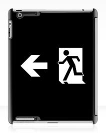 Running Man Exit Sign Apple iPad Tablet Case 123