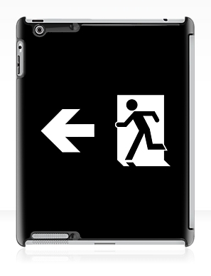 Running Man Exit Sign Apple iPad Tablet Case 123