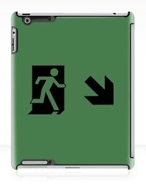 Running Man Exit Sign Apple iPad Tablet Case 124