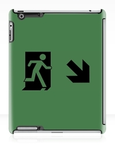 Running Man Exit Sign Apple iPad Tablet Case 124