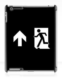 Running Man Exit Sign Apple iPad Tablet Case 125