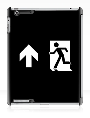 Running Man Exit Sign Apple iPad Tablet Case 125