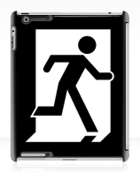 Running Man Exit Sign Apple iPad Tablet Case 126