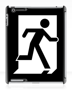 Running Man Exit Sign Apple iPad Tablet Case 126