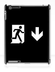Running Man Exit Sign Apple iPad Tablet Case 127