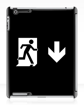 Running Man Exit Sign Apple iPad Tablet Case 127