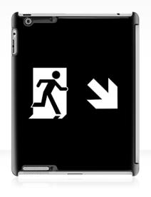 Running Man Exit Sign Apple iPad Tablet Case 128
